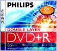 DVD+R 8x PHILIPS DOUBLE LAYER 8,5GB...